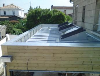Couverture en zinc sur extension d'habitation à BEGLES (33)