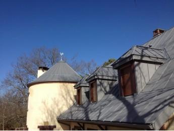 Couverture en zinc sur une maison à COIMERES (33)